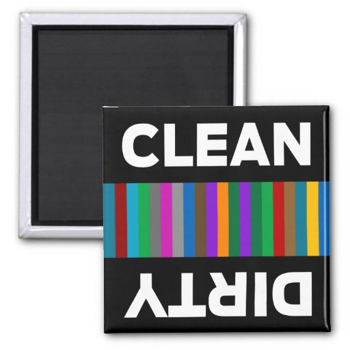 Imán limpio o sucio moderno del lavaplatos