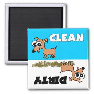 Imán limpio/sucio de la chihuahua linda del lavapl