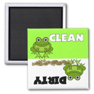 Imán limpio/sucio de la rana linda del lavaplatos