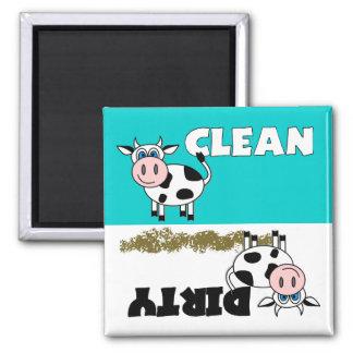 Imán limpio/sucio de la vaca feliz del lavaplatos