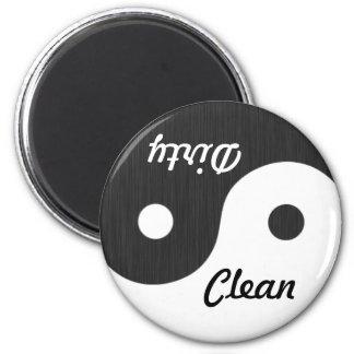 Imán limpio sucio de Yin y de Yang del lavaplatos