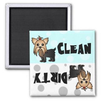 Imán limpio/sucio de Yorkie lindo del lavaplatos