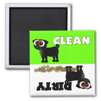 Imán limpio/sucio del barro amasado negro lindo de