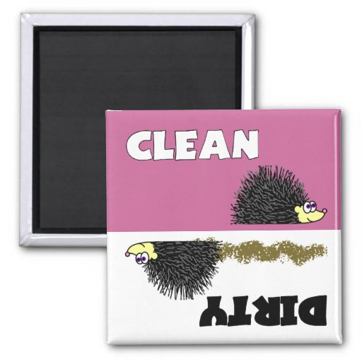 Imán limpio/sucio del erizo lindo del lavaplatos
