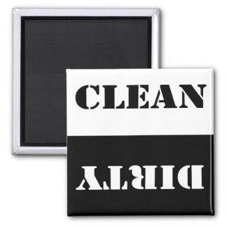 Imán limpio sucio del lavaplatos
