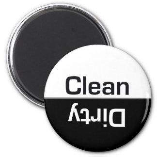 Imán Limpio-Sucio del lavaplatos blanco y negro