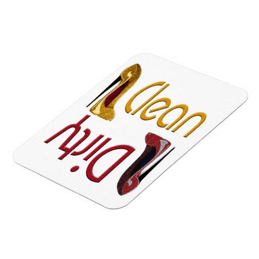 Imán limpio, sucio del lavaplatos con arte del est