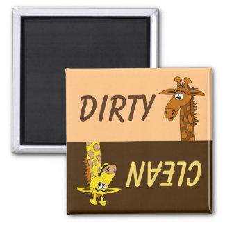 Imán limpio sucio del lavaplatos de la jirafa