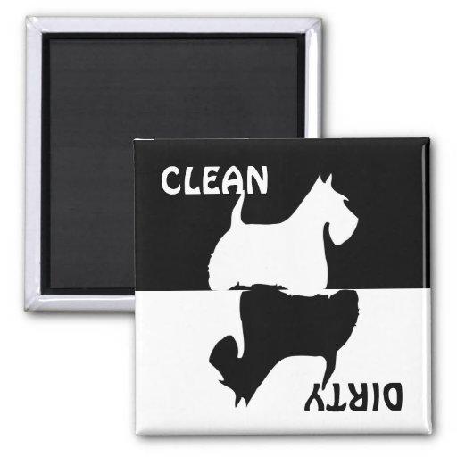 Imán limpio sucio del lavaplatos del perro de Terr
