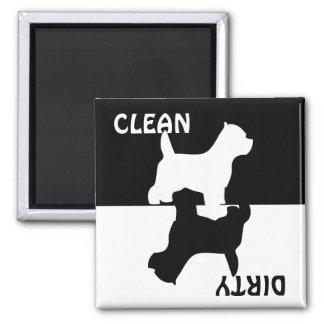 Imán limpio sucio del lavaplatos del perro de West