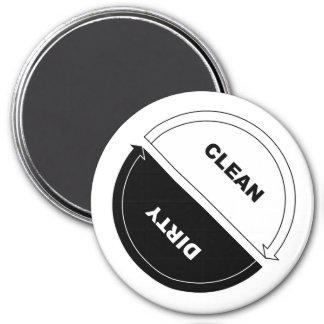 Imán Limpio-Sucio del lavaplatos (en blanco)