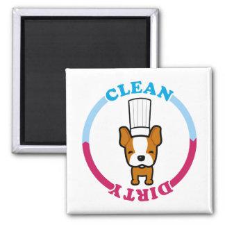 Imán limpio sucio lindo para el lavaplatos