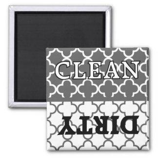 Imán limpio y sucio de la cocina gris del KRW del
