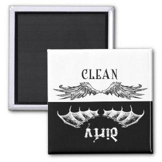 Imán limpio y sucio del lavaplatos de las alas