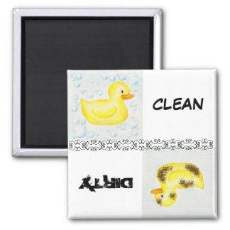 Imán limpio y sucio del lavaplatos del pato