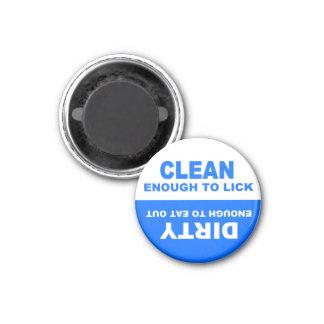 Imán limpio y sucio hilarante del lavaplatos