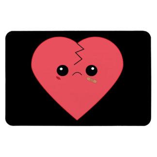 Imán lindo de Flexi del corazón quebrado de Kawaii