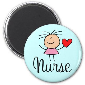 Imán lindo de la enfermera