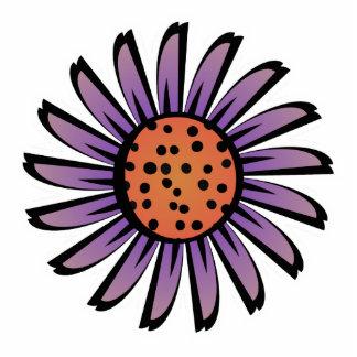 Imán lindo de la flor del naranja y de la púrpura imán fotoescultura