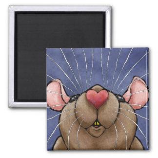 Imán lindo de la rata del corazón