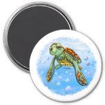 Imán lindo de la tortuga de mar