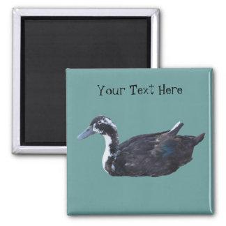 Imán lindo del animal del campo del pato negro