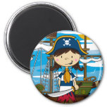Imán lindo del chica del pirata