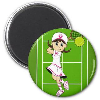 Imán lindo del chica del tenis