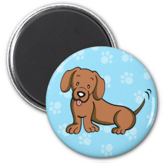 Imán lindo del Dachshund del perro del dibujo anim