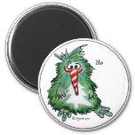 Imán lindo del dibujo animado del kiwi del navidad