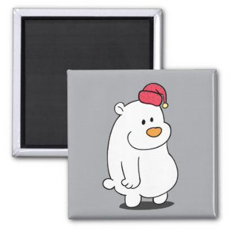 Imán lindo del dibujo animado del oso polar
