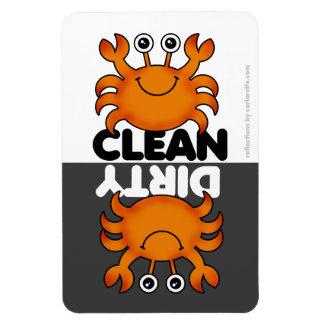 Imán lindo del lavaplatos del cangrejo