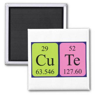 Imán lindo del nombre de la tabla periódica