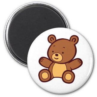 Imán lindo del oso de peluche del dibujo animado