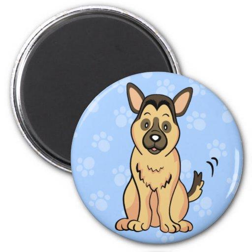 Imán lindo del pastor alemán del perro del dibujo