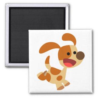 Imán lindo del perro del dibujo animado que se div