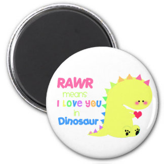 Imán lindo RAWR del dinosaurio