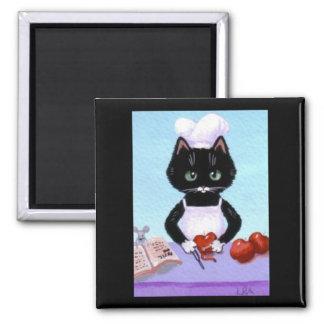 Imán Lisa R Adams Creationarts del ratón del gato