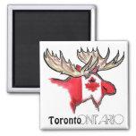 Imán local de la bandera de Toronto Ontario Canadá