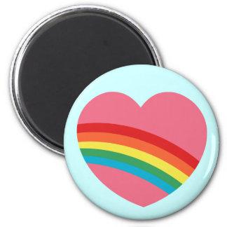 imán macizo del corazón del arco iris 80s