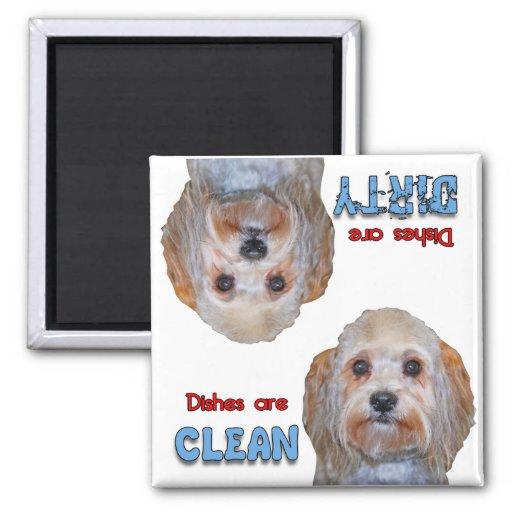 Imán maltés del lavaplatos de los amantes del perr