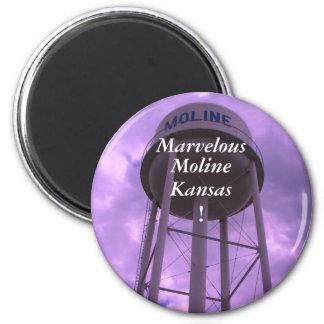 Imán:  ¡Maravilloso, Moline, Kansas! Imán Redondo 5 Cm