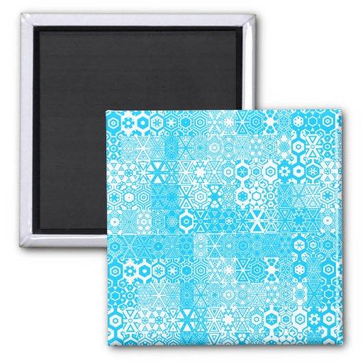Imán mareado del azul de Pattern_Pastel de los pla