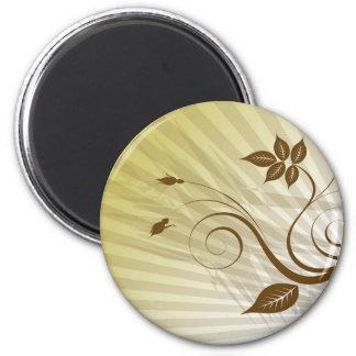 imán marrón de la flor