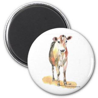 imán marrón de la vaca