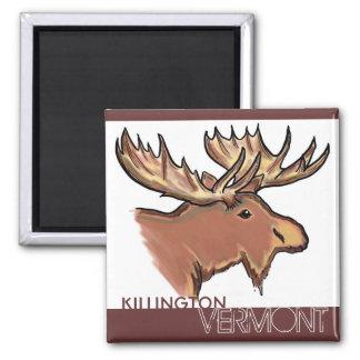 Imán marrón de los alces de Killington Vermont