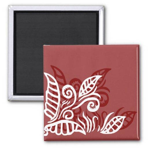 imán marrón rojo del diseño moderno de la hoja