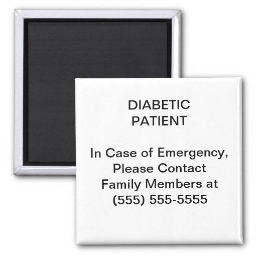 Imán médico del número de teléfono de contacto de