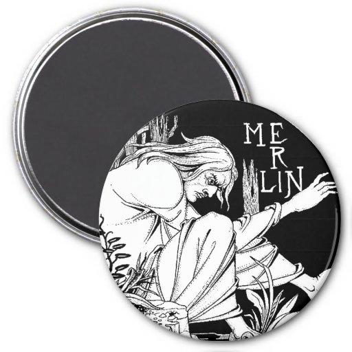 Imán: MERLIN - por Aubrey Beardsley