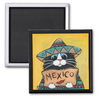 Imán mexicano del gato del smoking del